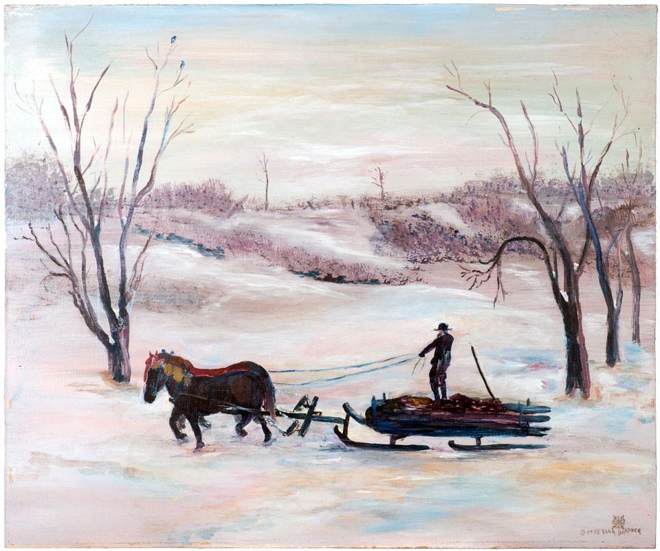 Amish Hauling Manure