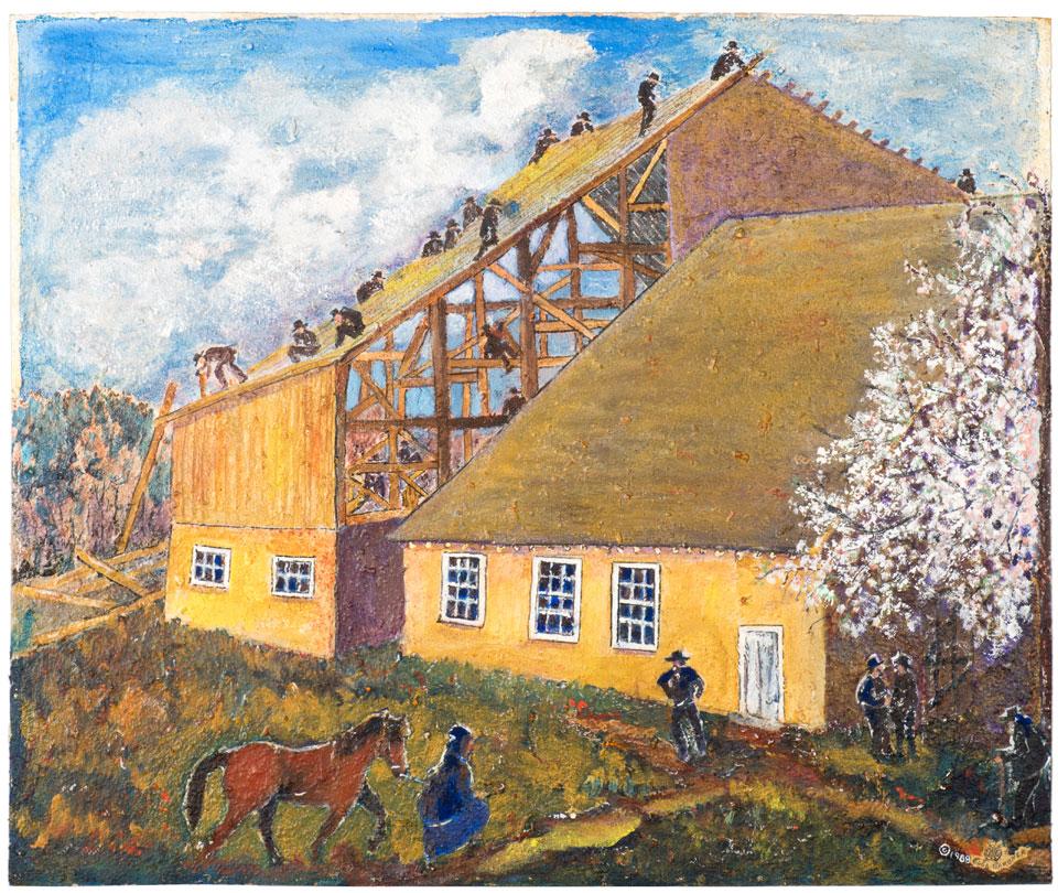 Amish Barnraising