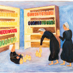 Amish Ladies Storing Canned Goods